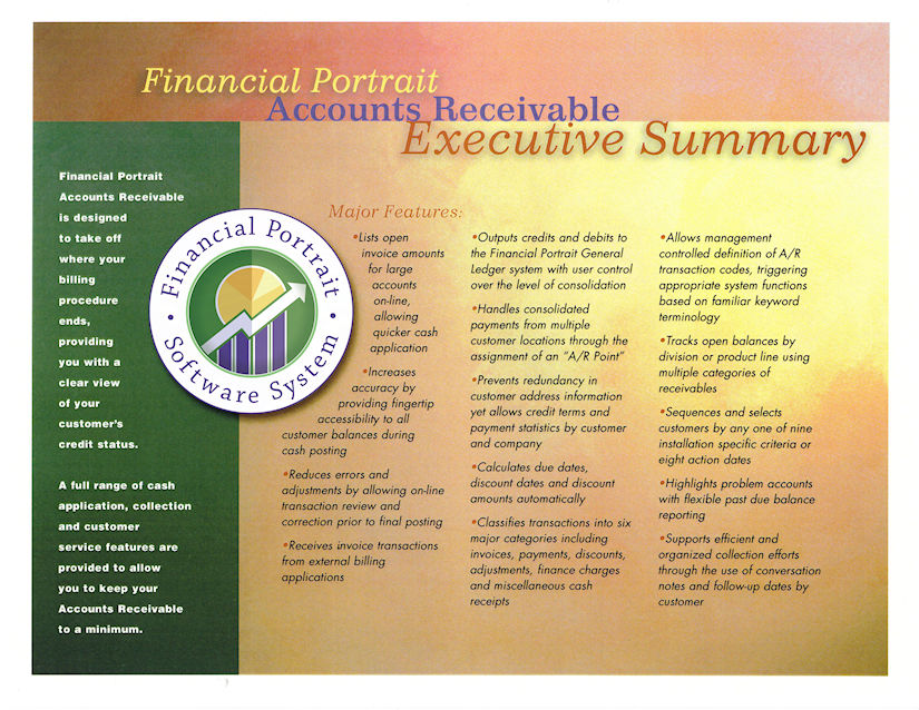 Financial Portrait Accounts Receivable Executive Summary